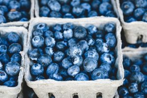 blueberries, berries, fiber, facial paralysis