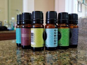 essential oils, moisturizer
