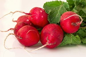 radish, skin