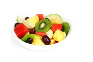 pineapple, kiwi, grapes, apple, melon, watermelon, fruit, fruit salad