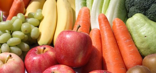 fruits, veggies, vegetable, carrot, apple, banana, grapes, lettuce