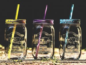 straws, mason jars, whiter teeth