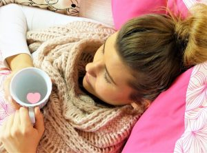 home remedies for SAD, woman, sick, tea