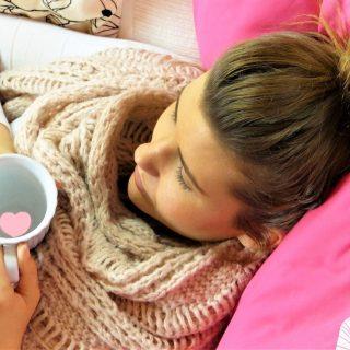 home remedies for SAD, woman, sick, tea