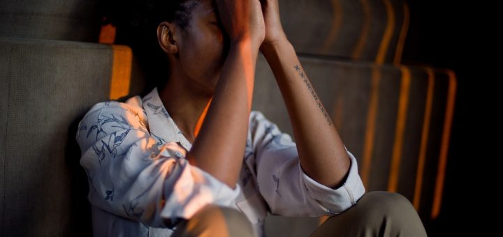 irregular menstrual cycles, stressed, woman