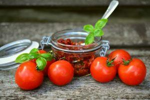 Sun-dried tomatoes, tomato,